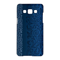 Fabric Blue Batik Samsung Galaxy A5 Hardshell Case  by Alisyart