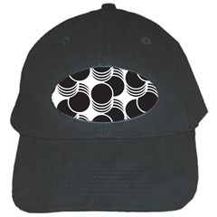 Floral Geometric Circle Black White Hole Black Cap