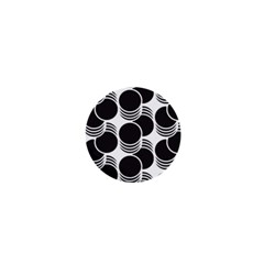 Floral Geometric Circle Black White Hole 1  Mini Buttons