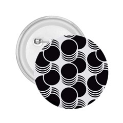 Floral Geometric Circle Black White Hole 2 25  Buttons