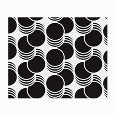 Floral Geometric Circle Black White Hole Small Glasses Cloth (2 Side) by Alisyart