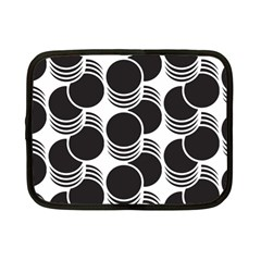 Floral Geometric Circle Black White Hole Netbook Case (small)  by Alisyart