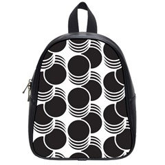 Floral Geometric Circle Black White Hole School Bags (small)  by Alisyart