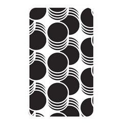 Floral Geometric Circle Black White Hole Memory Card Reader by Alisyart