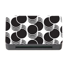 Floral Geometric Circle Black White Hole Memory Card Reader With Cf by Alisyart