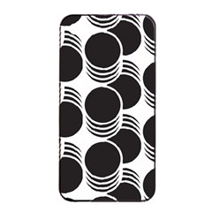 Floral Geometric Circle Black White Hole Apple Iphone 4/4s Seamless Case (black) by Alisyart