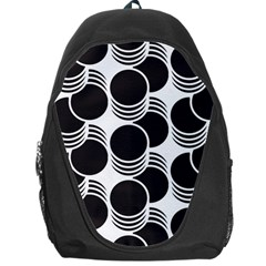 Floral Geometric Circle Black White Hole Backpack Bag