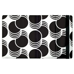 Floral Geometric Circle Black White Hole Apple Ipad 3/4 Flip Case by Alisyart