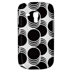 Floral Geometric Circle Black White Hole Galaxy S3 Mini by Alisyart