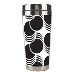 Floral Geometric Circle Black White Hole Stainless Steel Travel Tumblers