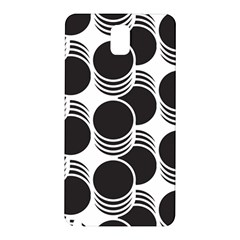 Floral Geometric Circle Black White Hole Samsung Galaxy Note 3 N9005 Hardshell Back Case by Alisyart