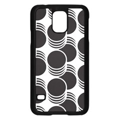 Floral Geometric Circle Black White Hole Samsung Galaxy S5 Case (black) by Alisyart