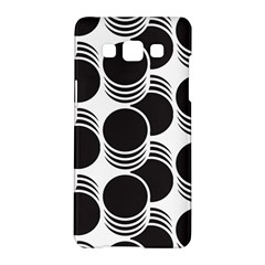 Floral Geometric Circle Black White Hole Samsung Galaxy A5 Hardshell Case