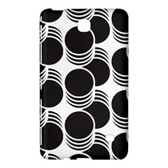 Floral Geometric Circle Black White Hole Samsung Galaxy Tab 4 (7 ) Hardshell Case  by Alisyart