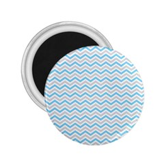 Free Plushie Wave Chevron Blue Grey Gray 2 25  Magnets by Alisyart