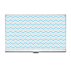 Free Plushie Wave Chevron Blue Grey Gray Business Card Holders by Alisyart