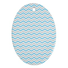 Free Plushie Wave Chevron Blue Grey Gray Oval Ornament (two Sides) by Alisyart