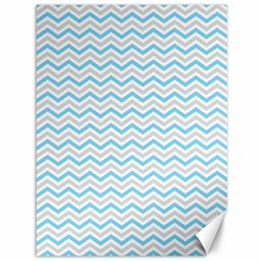 Free Plushie Wave Chevron Blue Grey Gray Canvas 36  X 48   by Alisyart