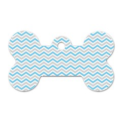 Free Plushie Wave Chevron Blue Grey Gray Dog Tag Bone (one Side) by Alisyart