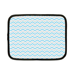 Free Plushie Wave Chevron Blue Grey Gray Netbook Case (small)  by Alisyart