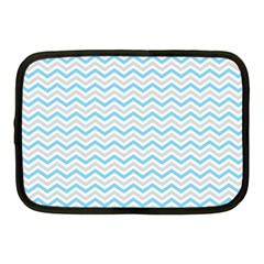 Free Plushie Wave Chevron Blue Grey Gray Netbook Case (medium)  by Alisyart