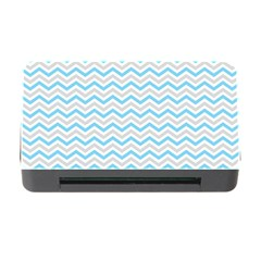 Free Plushie Wave Chevron Blue Grey Gray Memory Card Reader With Cf by Alisyart
