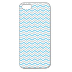 Free Plushie Wave Chevron Blue Grey Gray Apple Seamless Iphone 5 Case (clear) by Alisyart