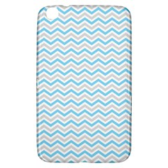Free Plushie Wave Chevron Blue Grey Gray Samsung Galaxy Tab 3 (8 ) T3100 Hardshell Case  by Alisyart