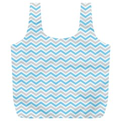 Free Plushie Wave Chevron Blue Grey Gray Full Print Recycle Bags (l)  by Alisyart