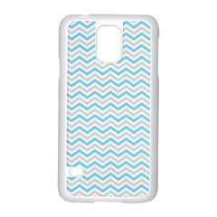 Free Plushie Wave Chevron Blue Grey Gray Samsung Galaxy S5 Case (white)