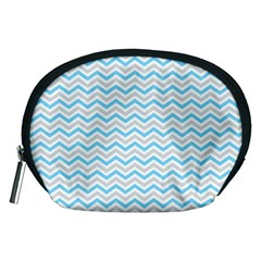 Free Plushie Wave Chevron Blue Grey Gray Accessory Pouches (medium)  by Alisyart