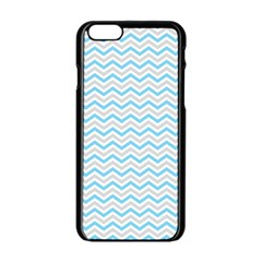 Free Plushie Wave Chevron Blue Grey Gray Apple Iphone 6/6s Black Enamel Case by Alisyart