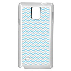 Free Plushie Wave Chevron Blue Grey Gray Samsung Galaxy Note 4 Case (white) by Alisyart