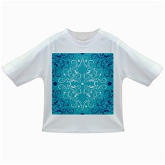 Flower Leaf Floral Love Heart Sunflower Rose Blue White Infant/toddler T Shirts