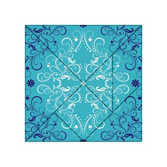 Flower Leaf Floral Love Heart Sunflower Rose Blue White Acrylic Tangram Puzzle (4  X 4 )