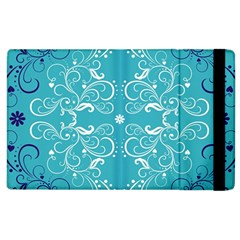 Flower Leaf Floral Love Heart Sunflower Rose Blue White Apple Ipad 2 Flip Case by Alisyart