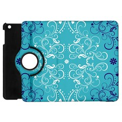 Flower Leaf Floral Love Heart Sunflower Rose Blue White Apple Ipad Mini Flip 360 Case by Alisyart
