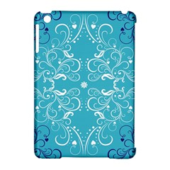Flower Leaf Floral Love Heart Sunflower Rose Blue White Apple Ipad Mini Hardshell Case (compatible With Smart Cover)