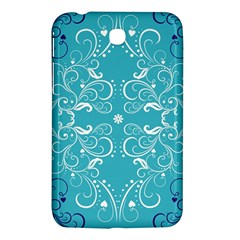 Flower Leaf Floral Love Heart Sunflower Rose Blue White Samsung Galaxy Tab 3 (7 ) P3200 Hardshell Case  by Alisyart