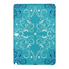 Flower Leaf Floral Love Heart Sunflower Rose Blue White Samsung Galaxy Tab Pro 10 1 Hardshell Case by Alisyart