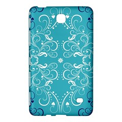 Flower Leaf Floral Love Heart Sunflower Rose Blue White Samsung Galaxy Tab 4 (8 ) Hardshell Case  by Alisyart