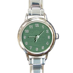 Illustration Green Grains Line Round Italian Charm Watch by Alisyart