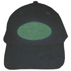 Illustration Green Grains Line Black Cap by Alisyart