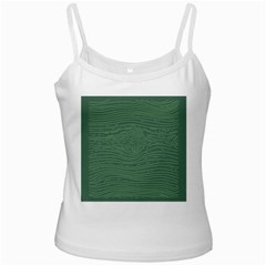 Illustration Green Grains Line White Spaghetti Tank by Alisyart