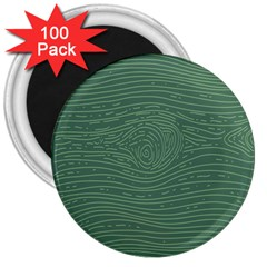 Illustration Green Grains Line 3  Magnets (100 Pack) by Alisyart