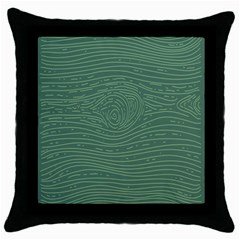 Illustration Green Grains Line Throw Pillow Case (black) by Alisyart