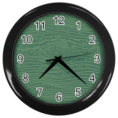 Illustration Green Grains Line Wall Clocks (black) by Alisyart