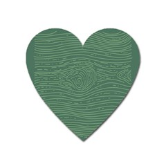 Illustration Green Grains Line Heart Magnet