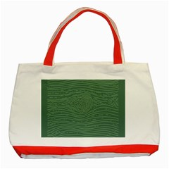 Illustration Green Grains Line Classic Tote Bag (red) by Alisyart