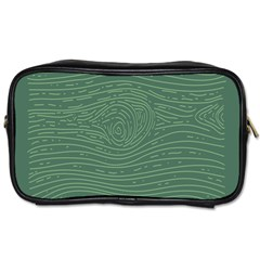 Illustration Green Grains Line Toiletries Bags 2 Side